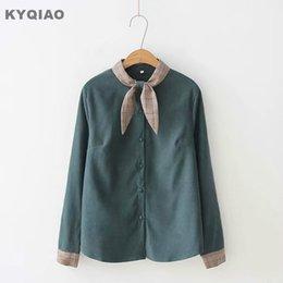 Women's Clothing Kyqiao Vintage Denim Shirt 2019 Women Autumn Winter Loose Japanese Style Fresh Long Sleeve Cat Embroidery Denim Blouse