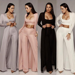 Leisure skirts online shopping - Autumn And Winter Fashion Elastic Knitted Three Piece Suit Ladies Sexy Solid Color Knitted Fabric Leisure Suit