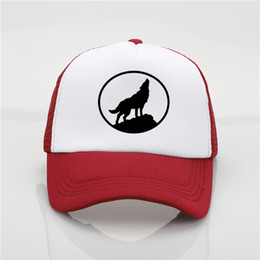 85d26b945b9 2018 Fashion hat Jungle wolf Printing net cap baseball cap Men and women  Summer Trend Cap New Wolf king sun hat Beach Visor hat