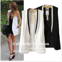 0929d5a7e5139 Women sleeveless blazers online shopping - CS451 New Celeb Style Women  Tailored Tuxedo Vest Waistcoat Sleeveless