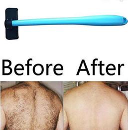 Back Hair Men Australia - New Shaving For Men Manual Back Hair Shaver Plastic Long Handle Razor For All Body Parts Hair Blade Remover Razors 100Pcs