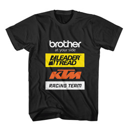 Team Usa Clothing UK - brother-ktm2018 racinger team logo t-shirt USA Sizes Men's Clothing