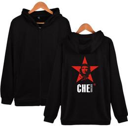 $enCountryForm.capitalKeyWord NZ - Fashion 100% Cotton Men Hoodies Sweatshirts for Boys Che Guevara Printed Mens Hooded pullover Plain Zipper Moleton Survetement