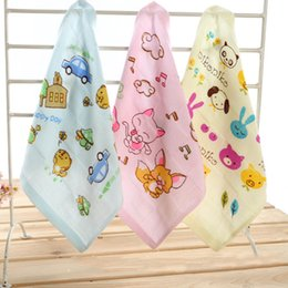 Baby Gift Delivery NZ - Quick-drying Printed Cotton Gauze Square Towel Face Hand Hair Towel Bibs Sweat Gift For Baby 26*26cm Random delivery