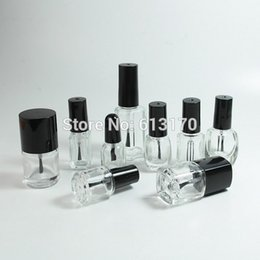 pack empty glass bottles 2018 - 2ml,3ml,4ml,5ml,7ml,10ml,12ml,15ml Nail polish bottle,Clear Nail Oil bottle,Empty Glass DIY Cosmetic Packing container c