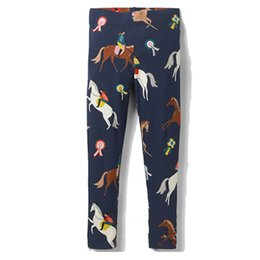 Chinese  Animals Appliqued Baby Girl Leggings Flowers Printed Girl Pants 2019 Wholesale Kids Clothing Stylish Tights 2-7T manufacturers