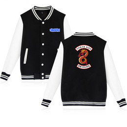 College baseball uniforms online shopping - Spring Riverdale Print Jacket Men Women Uniform Cotton Baseball Jacket Streetwear College Coat Plus Size