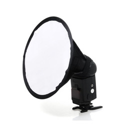 Venta al por mayor de 5 unids / lote 20 cm Mini circular Softbox Flash difusor caja suave para Canon para Nikon Speedlite 580EX 430EX 550EX SB900 SB800 SB700