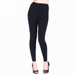 $enCountryForm.capitalKeyWord UK - Thick Thermal Underwear Cashmere Skinny Leggings 2-layers Wool Knitted Leotard Warm Pants Pull Femme Factory Wholesale