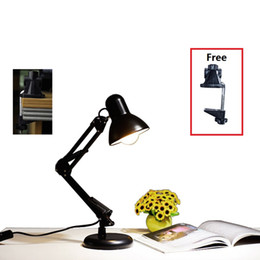 $enCountryForm.capitalKeyWord Australia - Classical table lamp Can be replaced E27 Bulbs lamp study Foldable free rotation Metal desk lamp simple hotel decorative indoor lighting