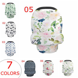 Wholesale Stretchy Car Seat Cover Baby Carseat Canopy Privacy Nursing Cover Breastfeeding cover Shopping Cart Grocery Trolley Cover High Chair Cover