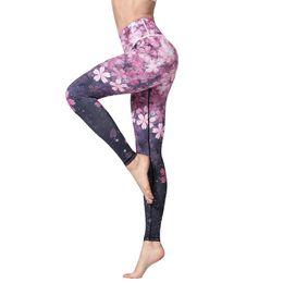 $enCountryForm.capitalKeyWord Australia - 3D Digital Printed Yoga Leggings Women Flexible High Waist Fitness Sport Capri Pants Plus Size Jogging Tights S-XL