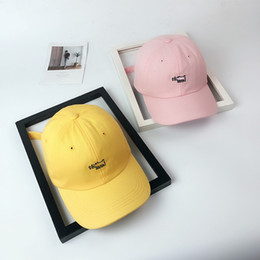 3444f84c673 Hat female fashion simple soft top cap hipster spring summer sunscreen  sunshade wild yellow bend baseball cap male