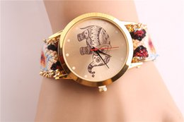 1326ef5e8 Nuevo tejido con auténtico reloj de pulsera femenino que vende tejido a mano  antigua Lady Watch