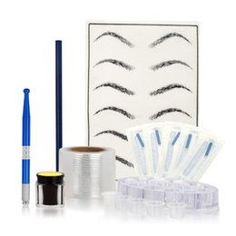 Microblading Set de Manuel Pen Needles Sourcils Pâte Pro Sourcils Tattoo pour le maquillage permanent tatouage Kits Sourcils en Solde