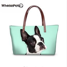 Cute Animal Tote Bags Canada - Whosepet Corgi Shoulder Bags For Women Cute Handbags Animal Printing Lady Tote Boston Terrier Top Handle Bags Beach Totes Hobo