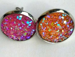 $enCountryForm.capitalKeyWord Australia - Brand New Hot Women Crystal faux druzy Earring Jewelry Free Shipping [JE06240*1]