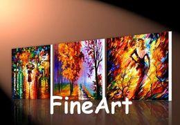 Good Paintings Australia - good quality handmade 3 piece painting Leonid Afremov knife oil painting modern canvas wall art decoration