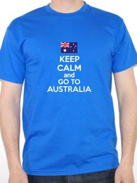 $enCountryForm.capitalKeyWord Canada - Create Custom T Shirts Comfort Soft Keep Calm And Go To Australia Australian Crew Neck Short-Sleeve Mens Shirt
