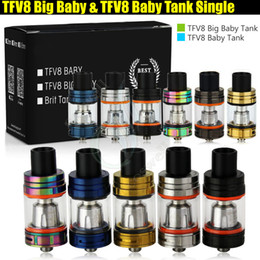 Stick atomizer online shopping - Top quality TFV8 Big Baby Baby Tank Single Pack ml ml Airflow Control V8 Beast Coils Atomizers Stick Vape mods e cigarettes Vaporizer