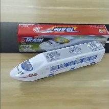 Railway Toys Electric NZ - 2PCS Electric light music Train Toy high-speed train Battery Powered toys Trains Model Great Kids Christmas Toys Gifts for Children Friends