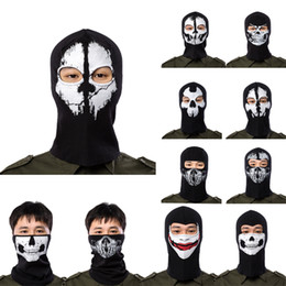$enCountryForm.capitalKeyWord NZ - Halloween Scary Mask Skeleton Ghost Masks full face Outdoor Paintball Ski Sport Motorcycle Bike Helmet Mask Neck Scarf cap Party Supplies