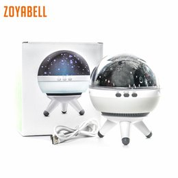Discount led spin ball zoyabell Rotating Night Light Star Projector Baby Kids Sleep Romantic Led Spin Starry Sky Star Master Battery USB Lamp L