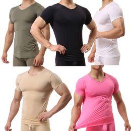 Venta al por mayor de Camiseta culturista para hombre Camiseta musculosa Camiseta básica de manga corta Camiseta de tirantes Camiseta ultra fina Camiseta casual