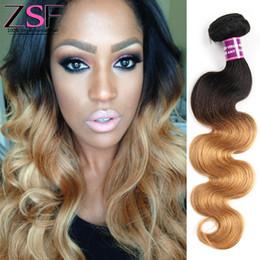 $enCountryForm.capitalKeyWord NZ - ZSF Best Price 8A Grade Peruvian Human Hair Ombre 1b 27 Body Wave Human Hair Extensions 1 Bundle Hair