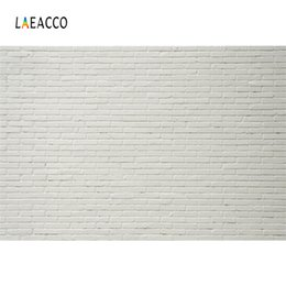 Discount scenic backdrop brick wall - Laeacco White Brick Wall Portrait Party Stage Grunge Photography Backgrounds Customized Photographic Backdrops For Photo