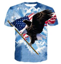 d011e14fcd1 New Arrival Men Women Eagle American Flag Unisex 3D Printed T-shirt Summe  Fashion Hip Hop Casual T-shirt U382