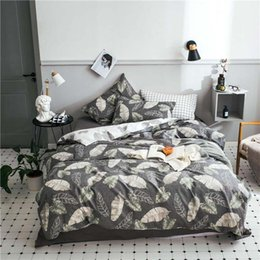 Discount embroidered bedding designs - 100% coon English word design i love you King Queen Size Bedding Sets Duvet Cover Sheet Set pillowcase Valentine's