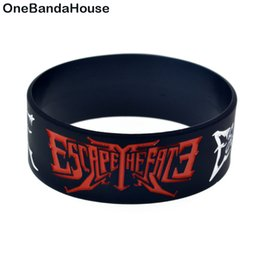 Chinese  50PCS Lot Post Hard Core Orchestra Escape The Fate Silicone Bracelet To Show How You Support Your Idol manufacturers
