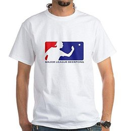 Fashion design major online shopping - new Major League Beer Pong T Shirt Cotton T Shirt Crew Neck Comfortable and Soft Classic White Tee with Unique Design