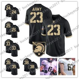 f5cd70772 NCAA Army Black Knights  24 Pete Dawkins 33 Darnell Woolfolk 35 Doc  Blanchard 38 Nick Schrage Black White Stitched College Football Jersey