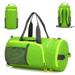 Wholesale Outdoor Multifunction Waterproof Nylon Unisex Camping Sports Bags Folding Knapsack Packsack Shoulder Bag Travel Hiking Bags Mummy bags