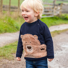 Discount clothes for bears - Little maven 2-7Years Autumn New Kids Baby Boy Bear Pattern Sweatshirts For Babies Children's Fall Clothes For Boy&
