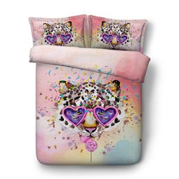 Discount california king beds - 3D tiger Duvet Cover Animal Bedding Sets Bedspreads Holiday Quilt Covers Bed Linen Pillow Cover horse wolf elephant gira