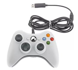 black computer game UK - Game Controller Xbox 360 Gamepad Black USB Wire PC XBOX360 Joypad Joystick XBOX360 Accessory For Laptop Computer PC
