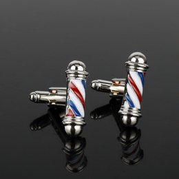 $enCountryForm.capitalKeyWord UK - dongsheng Tie Clips&Cufflink Series Barber Shop Barber Pole Cufflinks Men Shirt Cuff Buttons Jewelry CuffLinks New Accessories