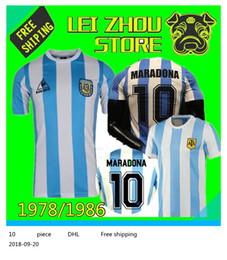 e2171a57d 1978 1986 Argentina Maradona home Soccer jersey Retro Version 86 78 Maradona  Messi CANIGGIA Quality Football Shirt Batistuta in stock