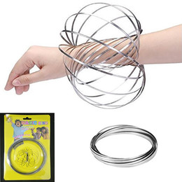 Pack Supplies Australia - 304 Stainless Steel Flowing Ring Magic Bracelet Toys Moving Funny Decompression Toys Party Favor With Blister Pack WX9-412