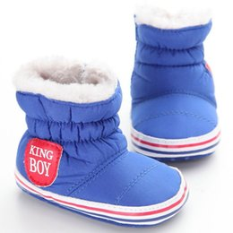 $enCountryForm.capitalKeyWord NZ - Plush+Flock+Cotton Fabric Baby Boy Snow Boots Warm Plush Winter Navy Infant Boot Toddler Shoes Soft Prewalker Shoe