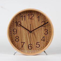 Bell horloge de bureau, mute le salon est réelle horloge de bureau en bois, horloge créative européenne. en Solde