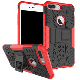 $enCountryForm.capitalKeyWord NZ - Rugged Armor Hybrid Kickstand Case For iPhone 6S 7 8 Plus iPhone XS Max XR Rubber PC TPU Hard Cover Cases
