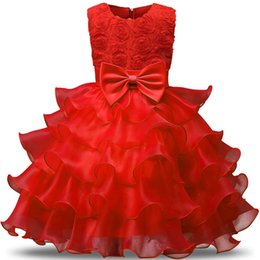 $enCountryForm.capitalKeyWord NZ - Red Wedding Flower Princess Ball Children Clothing Baptism Evening Gown Girl Dresses Summer Formal Kids Dress Girls Clothes