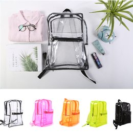 $enCountryForm.capitalKeyWord Canada - PVC Transparent Backpack Summer Beach Waterproof Clear Backpack Fashion Style Women Girls Travel Portable Jelly Color Shoulder School Bags