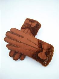 Leather Wrist Gloves Australia - Quality Handmade Fashion women winter gloves Warmer Gloves Winter Travel Outdoor Wool Leather Gloves