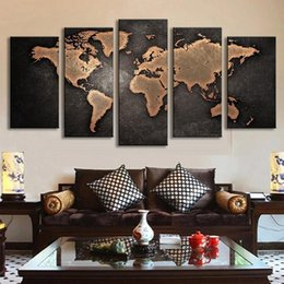 World map canvas oil painting australia new featured world map 5 pcs set framed modern abstract wall art painting world map handpainted painting high quality canvas home wall decor multi sizes l32 gumiabroncs Gallery