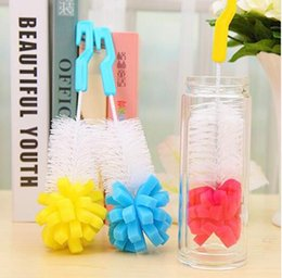 Wholesale 1pcs Baby Bottle Brushes cleaning cup brush for nipple spout tube kids Feeding Cleaning Brush